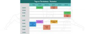 horarios raja yoga madrid en noviembre