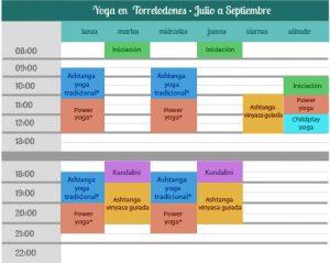 Horarios Raja Yoga Madrid