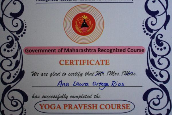 Yoga Pravesh diploma